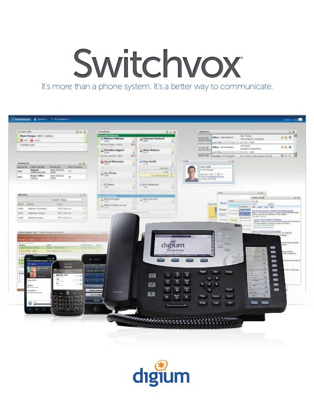 It's more than a phone system. It's a better way to communicate. Switchvox® Switchvox®