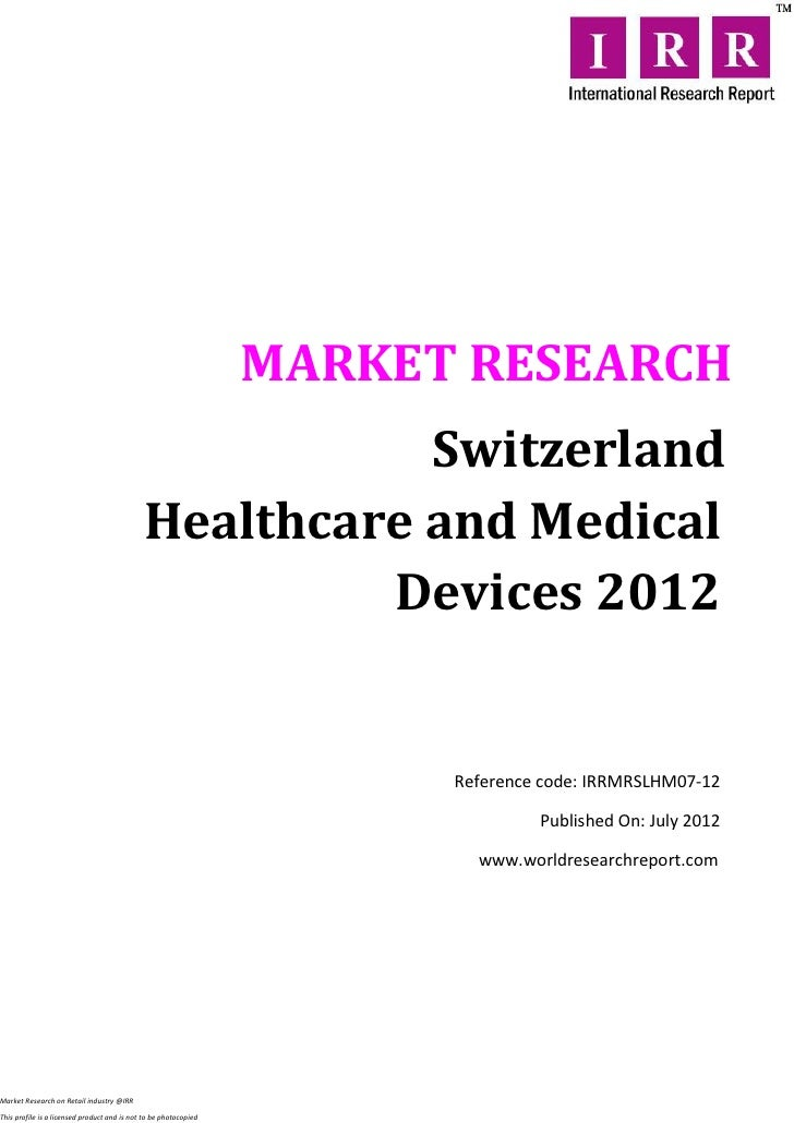 Switzerland healthcare and medical devices 2012