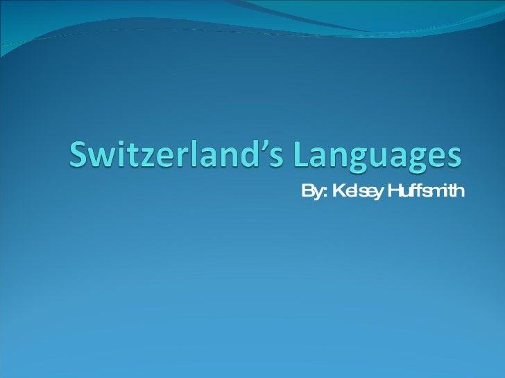 Switzerland'S Languages