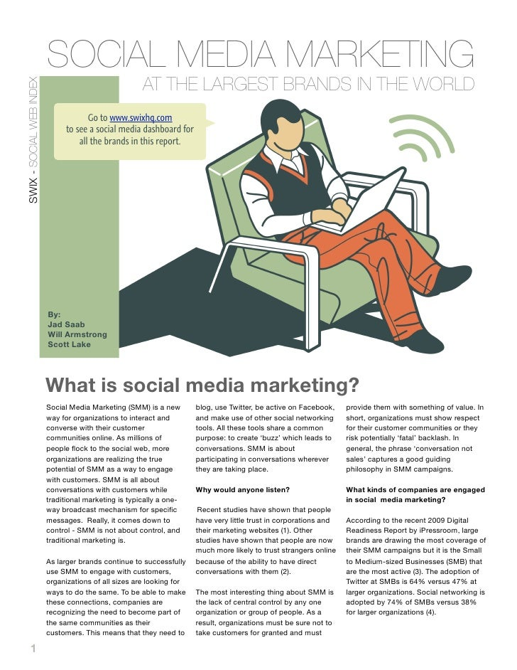 SOCIAL MEDIA MARKETING                                                        AT THE LARGEST BRANDS IN THE WORLD SWIX - SO...