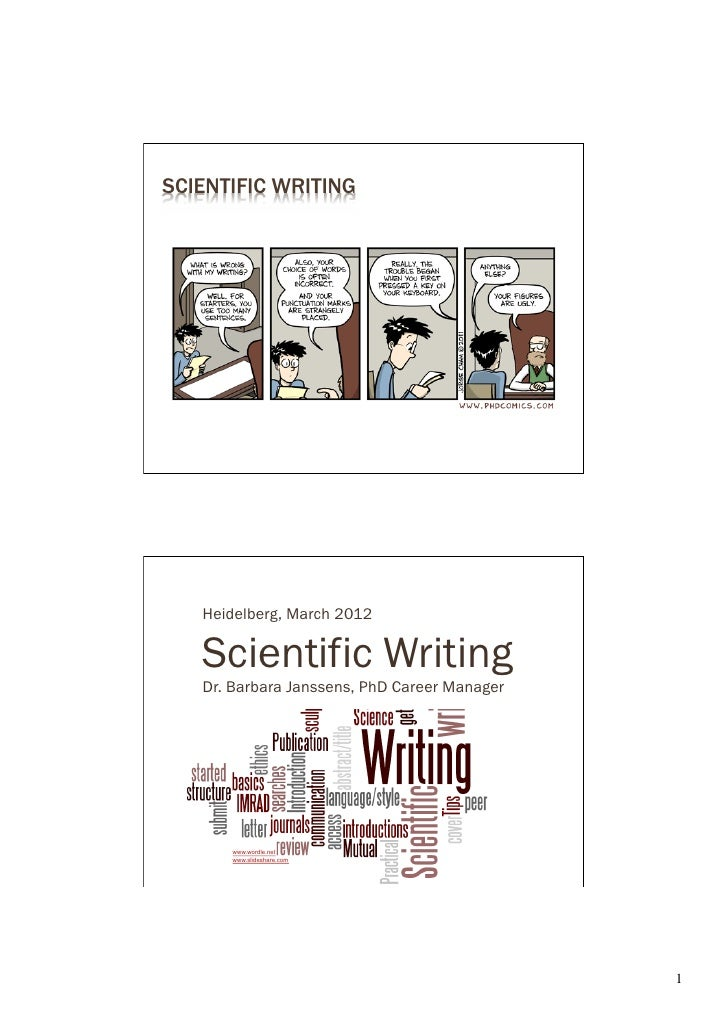 Scientific Writing Barbara Janssens 2012