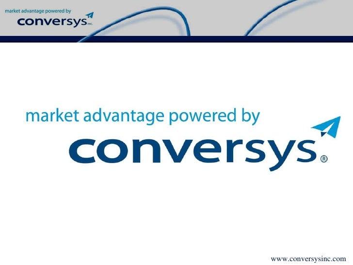 Conversys Capabilities