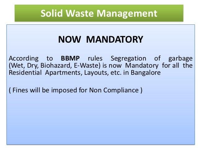 Solid Waste Management in Purva Panorama - member of BANA