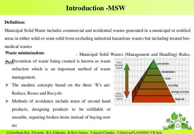 thesis about household solid waste management 3 abstract a new metric to measure the effectiveness of municipal solid waste management systems scott m kaufman typically, evaluations of the environmental performance of municipal solid waste.