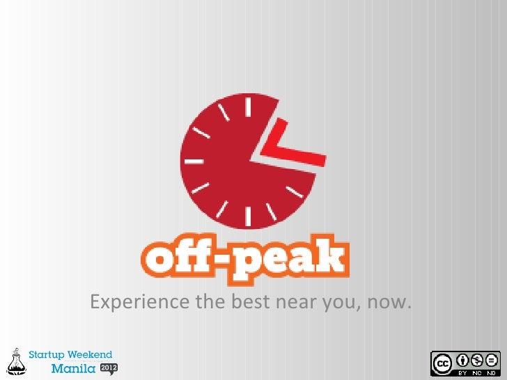 #SwManila Off-Peak: Location-based Discount Aggregator