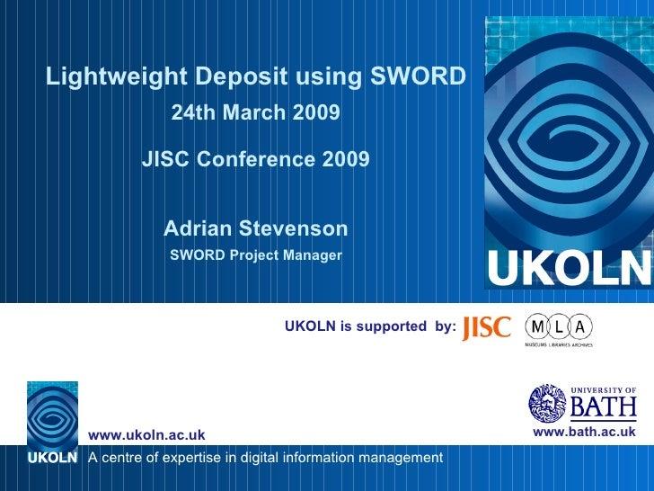 Lightweight Deposit using SWORD