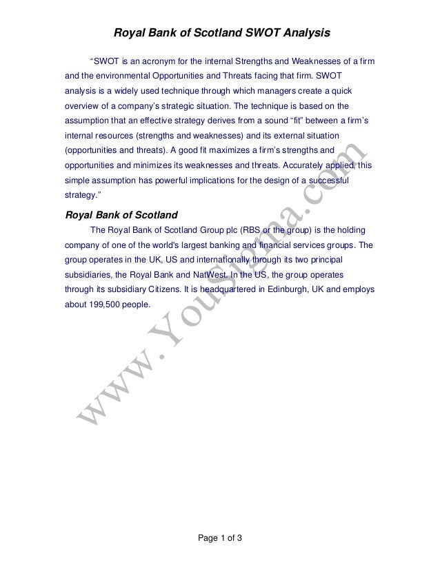 pestel analysis of royal bank of scotland Analysis of rbs change strategies acquisition of natwest  therefore, it is  important to analyse external environment using pest analysis.