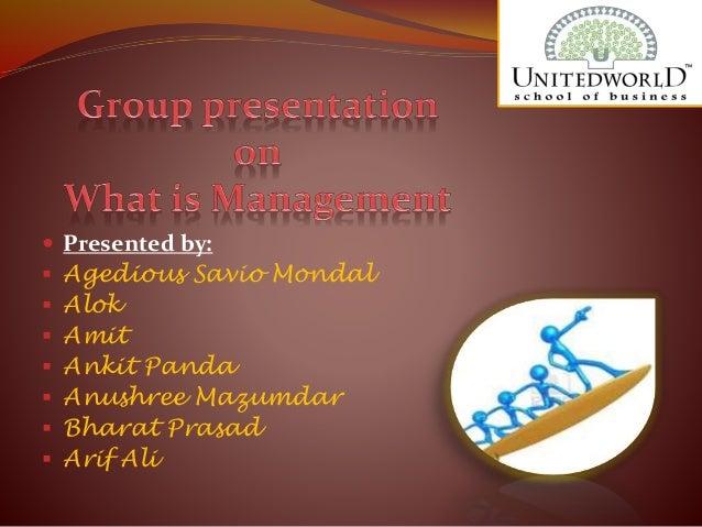 Presentation on management concepts