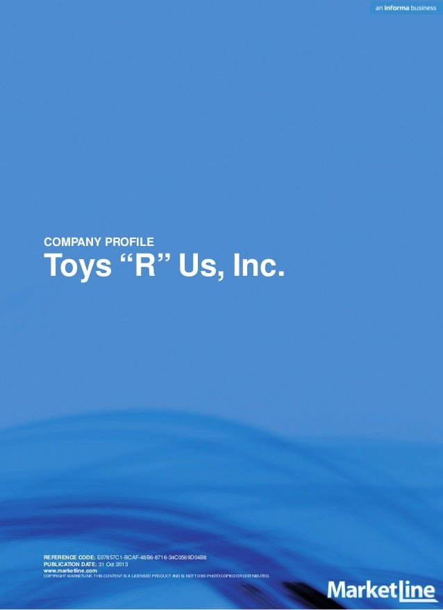swot toys r us Toys r us, inc toys r us, inc - strategy and swot report, - is a source of comprehensive company data and information the .