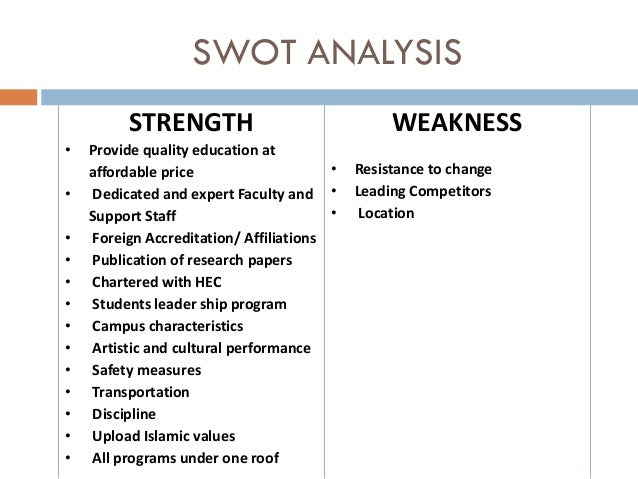 gtcc strengths and weaknesses of your college More than 70 school district of clayton parents, students, staff and community members identified the following district weaknesses as part of a swot analysis.