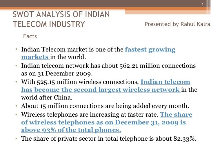 Swot Analysis Indian Telecom Industry Ppt