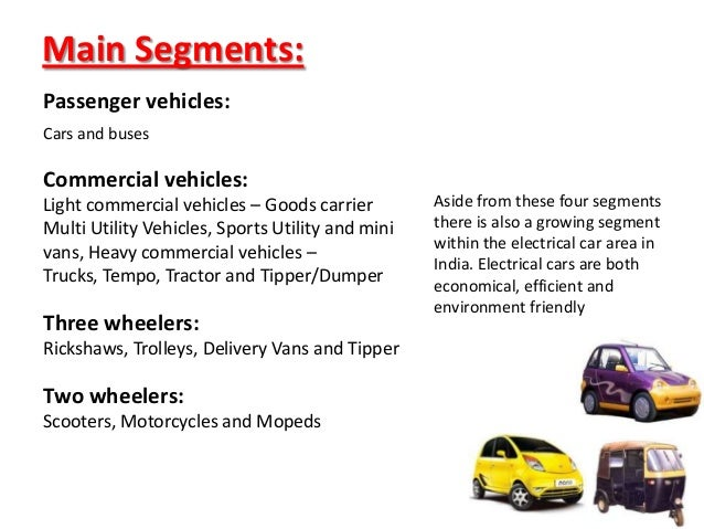 automobile and swot analysis Can anyone give me details about swot analysis of automobile sector in india advertisements.
