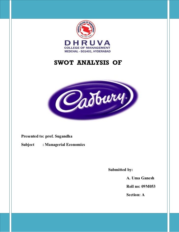 swot on cadbury 2 vision of cadbury 3 values of cadbury 4 research & development 5 swot on r & d 6 marketing strategy 7 marketing swot 8 conclusion 9 references ♣ with over 45,000 employees working.