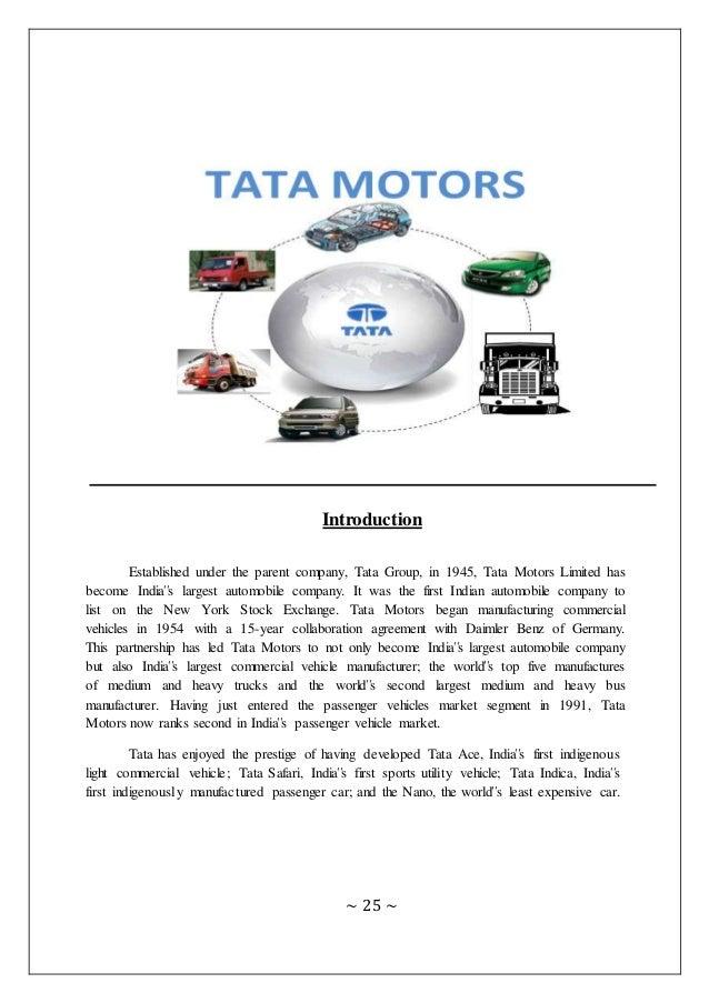 swot analysis of tata motors