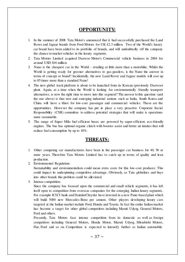 swot of tata motors Swot analysis for tata motors - download as word doc (doc / docx), pdf file  (pdf), text file (txt) or read online.