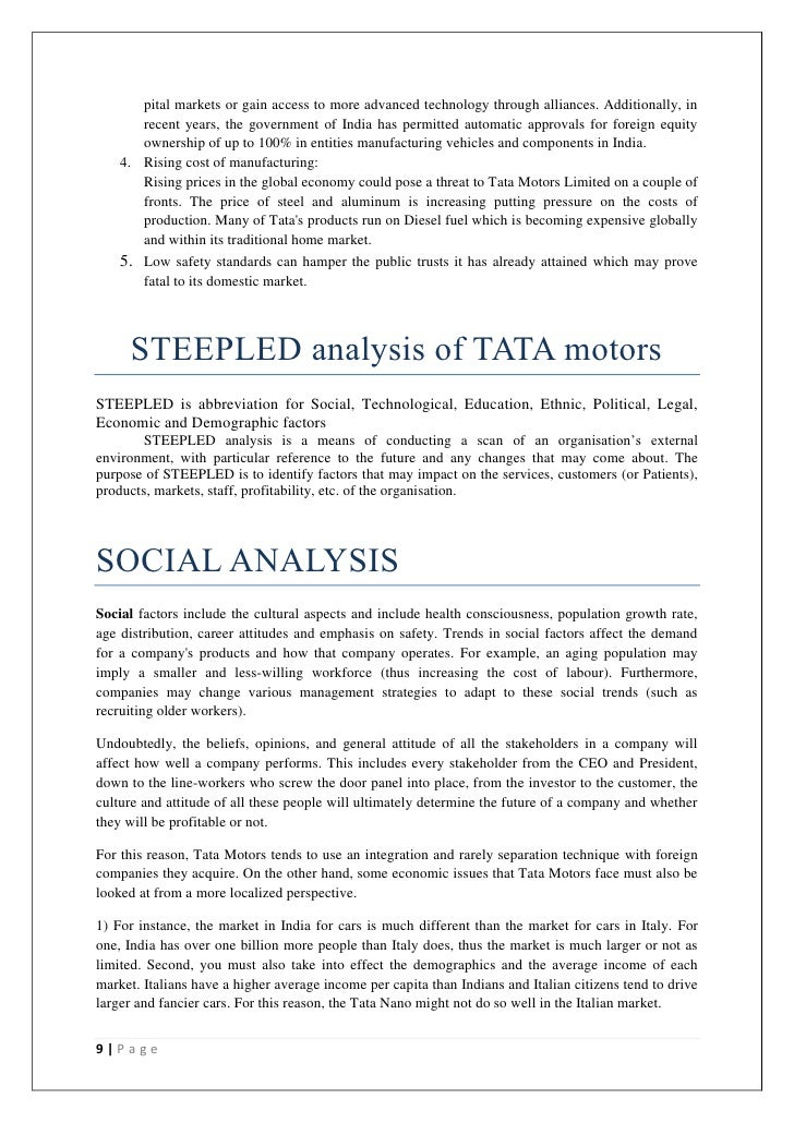 tata motors swot analysis Tata motors swot analysis, segmentation, targeting & positioning (stp) are covered on this page analysis of tata motors also includes its usp, tagline / slogan and.