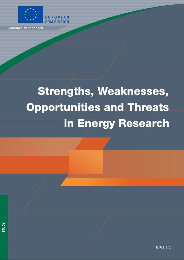 15KI-NA-21612-EN-C Strengths,Weaknesses,OpportunitiesandThreatsinEnergyResearch All countries are facing the increasing ch...