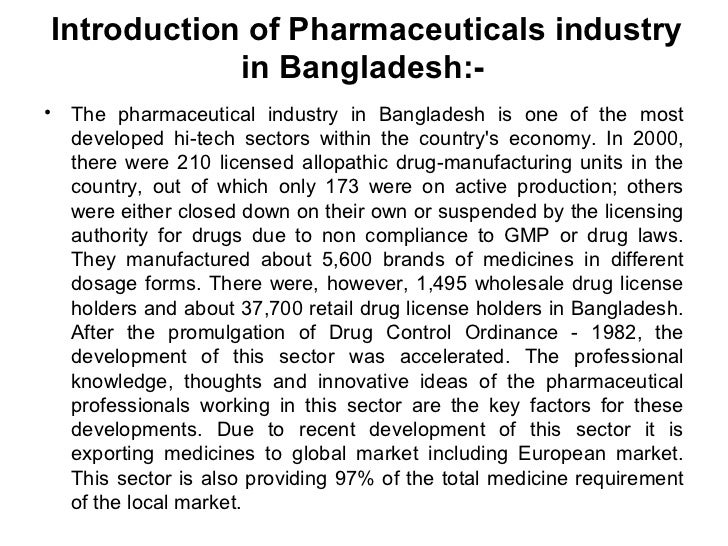 term paper on pharmaceutical industry in bangladesh Pharmaceutical industry analysis of bangladesh in bangladesh pharmaceutical sector is one of the most developed hi tech sector which is.