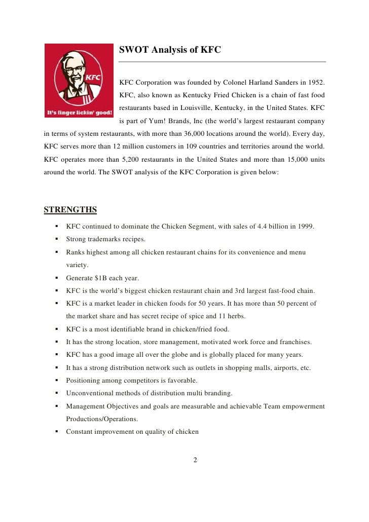 tows matrix for kfc malaysia Kfc swot presentation 1 kentucky fried chicken and its swot analysis 2 introduction of kfc kentucky fried chicken is one of the.