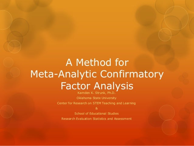 factor analysis and confirmatory factor analysis essay Introduction to confirmatory factor analysis and structural equation modeling lecture 12 august 7, 2011 advanced multivariate statistical methods.