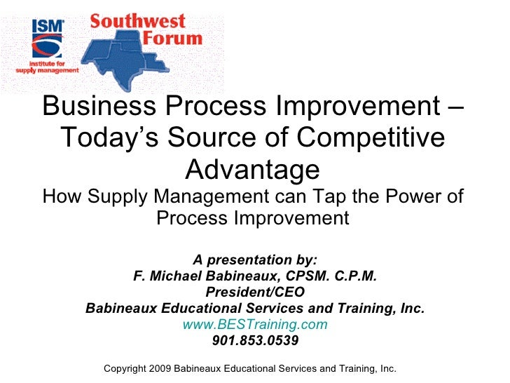Improving the Business Processes