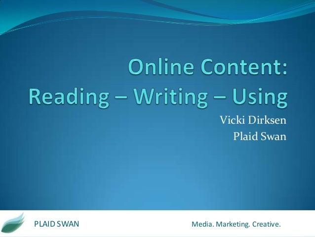 Reading. Writing. Using. Online Copywriting