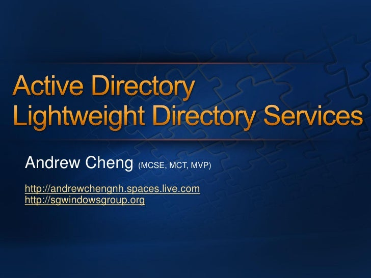 Andrew Cheng (MCSE, MCT, MVP) http://andrewchengnh.spaces.live.com http://sgwindowsgroup.org