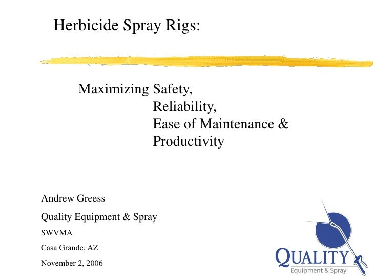 Herbicide Sprayer - Design Considerations