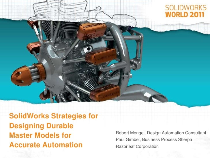 SolidWorks Modeling for Design Automation