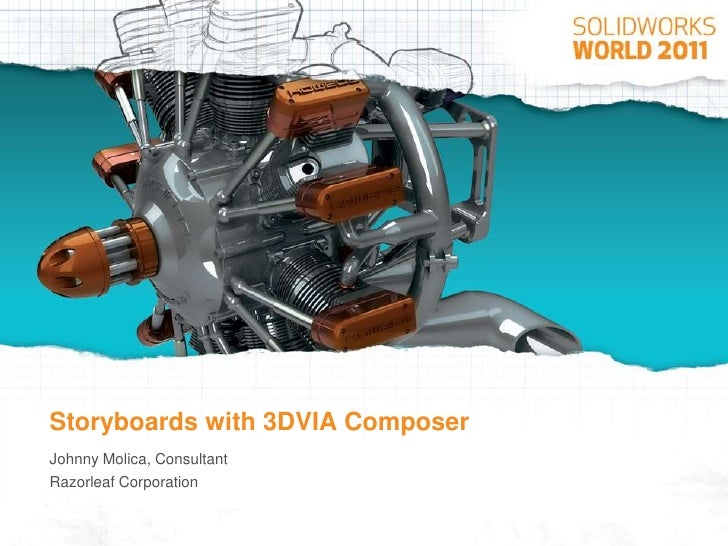 3DVIA Composer for Assembly Instruction Storyboards