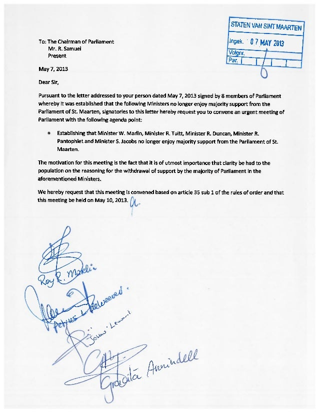 New Majority in Parliament Request Urgent Meeting of the House for May 10