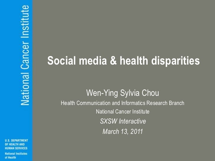 Social media & health disparities<br />Wen-Ying Sylvia Chou<br />Health Communication and Informatics Research Branch<br /...