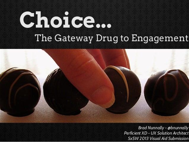 Brad Nunnally - @bnunnally Perficient XD - UX Solution Architect SxSW 2013 Visual Aid Submission Choice... The Gateway Dru...