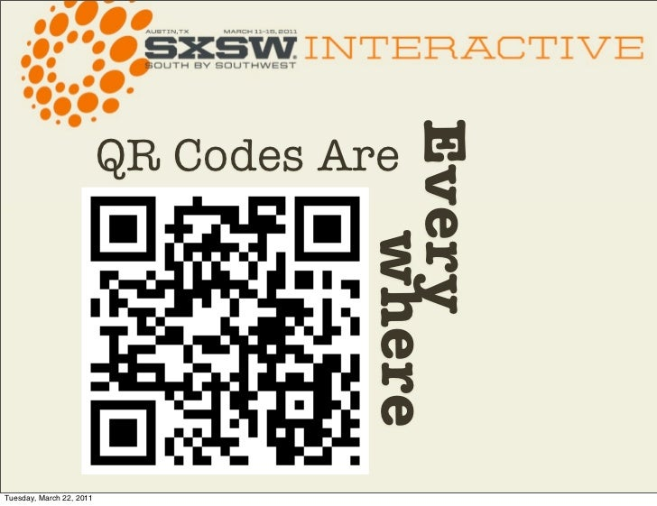 Ever y                          QR Codes Are                                       whereTuesday, March 22, 2011