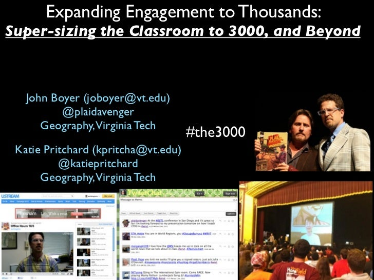 Supersizing the Classroom: 3000 Students & Beyond