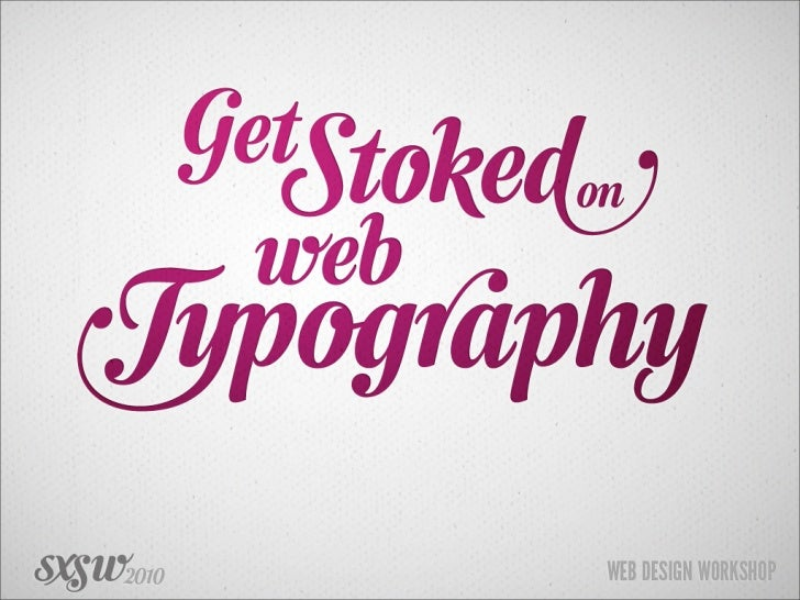This is an     inspirational talk on                type & lettering *   If you are looking for practical talk on CSS & fo...
