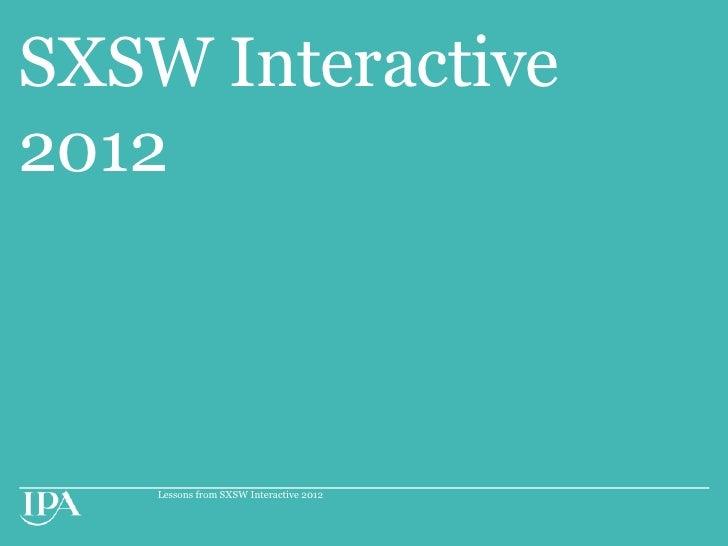 Sxsw 2012 part 1