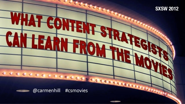 What Content Strategists Can Learn from the Movies