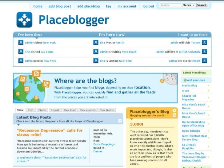 Screenshot of Placeblogger                                                          placeblogger