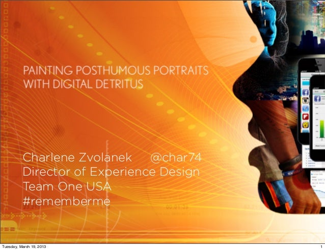 painting posthumous portraits with digital detritus: future 15 talk at sxsw interactive 2013