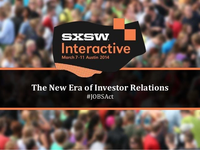 The New Era of Investor Relations