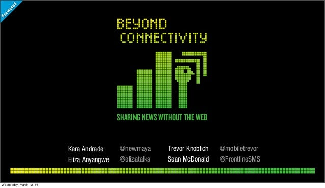 Beyond Connectivity: Sharing News without the Web