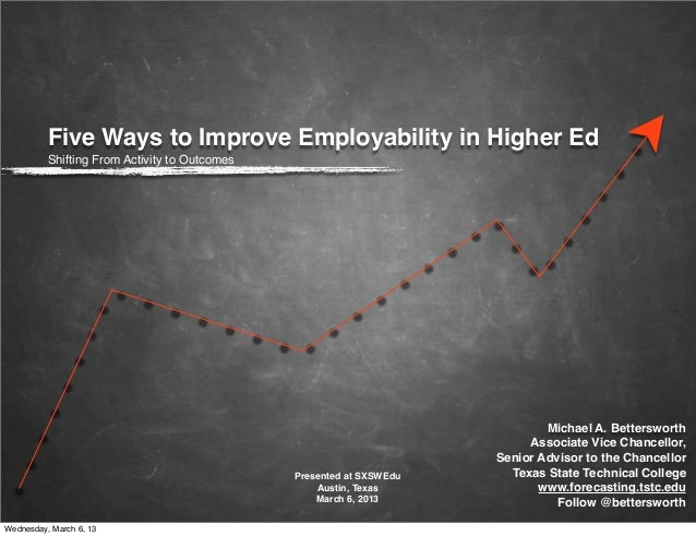 Five Ways to Improve Employability in Higher Education