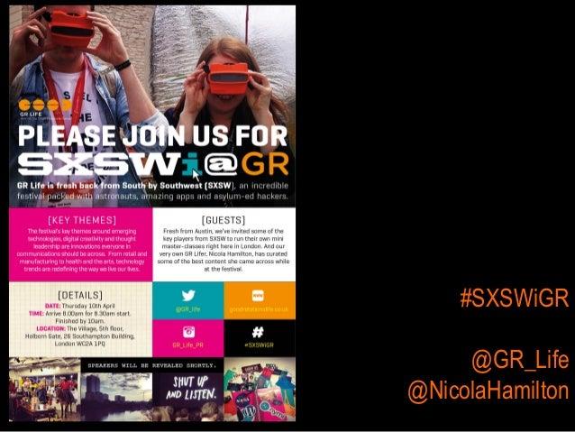 #SXSWiGR @GR_Life @NicolaHamilton