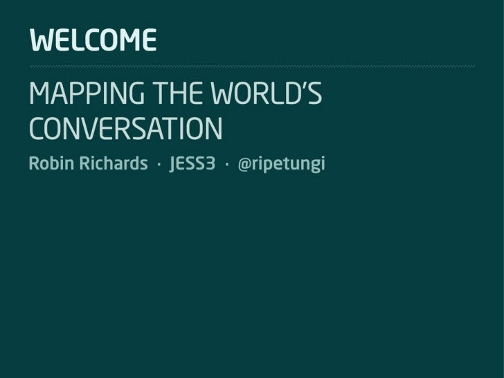 SXSWi: Social Media Data Visualization Mapping the World's Conversations