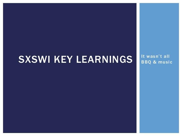 SXSW Interactive for Non profits