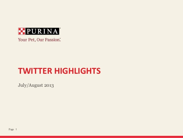 1Page TWITTER HIGHLIGHTS July/August 2013