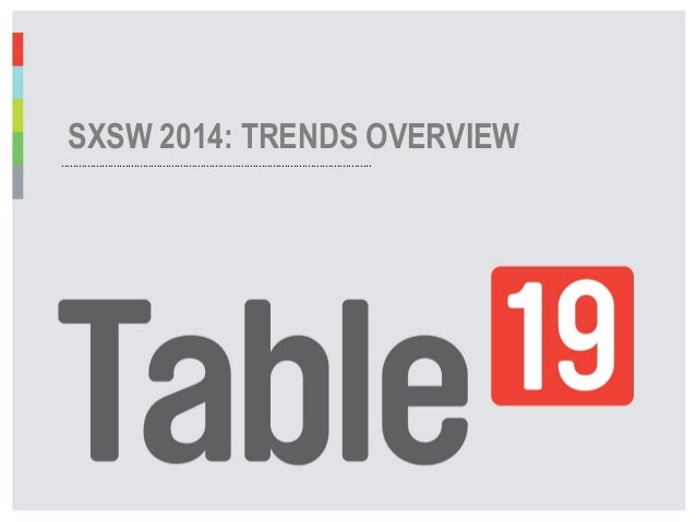 SXSW 2014: Trends Overview
