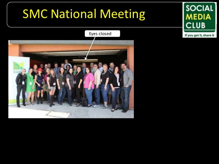 SMC National Meeting<br />Eyes closed<br />
