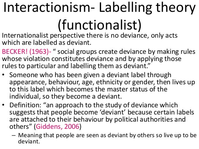 labelling theory and terrorism Defining terrorism what is  or print space possible have led to the promiscuous labelling of a range of  this account than for the theory of.